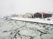 Abashiri Port with Drift Ice