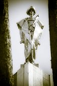 Statue of Juraj Janosik - famous slovak highwayman