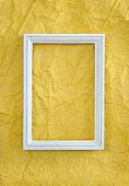 Frame On Yellow Wrinkled Paper
