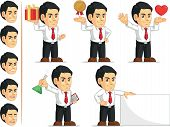 Office Worker Customizable Mascot 4