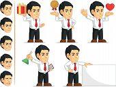 Office Worker Customizable Mascot 4