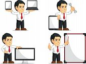 Office Worker Customizable Mascot 14