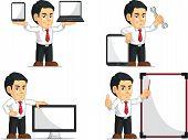 Office Worker Customizable Mascot 14