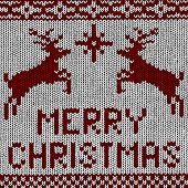 Vector Christmas Background - Norwegian Knitting Patterns