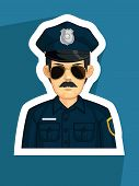 foto of police  - A vector image of police - JPG