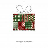 Present - Christmas Card Vector
