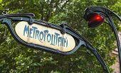 Art-deco Styled Street Sign, Paris Metro