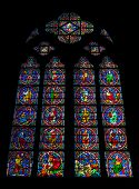 Stained Glass Window Of The Notre Dame De Paris