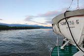 Lifeboat On Ship At Kolyma River