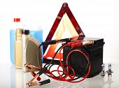 Set of auto parts,  car battery