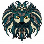 Stylized Lion Head