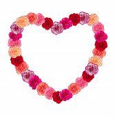 Heart Frame Of Carnation Flower
