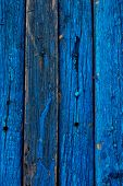 cobbled together with old wooden board blue color