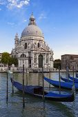 Gondolas And Basilica Di Santa Maria Della Salute