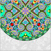 ornamental floral template with circle