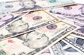stock photo of twenty dollars  - background of American dollars business finance bills  - JPG