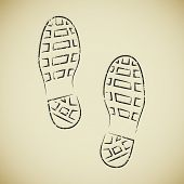 Boots footprints