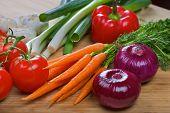 stock photo of scallion  - Red onion - JPG