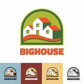 Big house - vector logo concept illustration