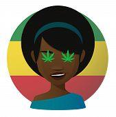 Avatar With Marijuana Leafs