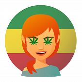 pic of rastaman  - Illustration of an isolated avatar with marijuana leafs - JPG
