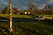 Irish Cottage At Sunset