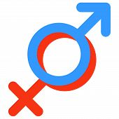 Gender symbol of Venus and Mars.