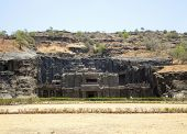 image of ellora  - scenery at the Ellora Caves in the state Maharashtra located in India - JPG