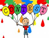 Contest Balloons Shows Youngster Children And Decoration