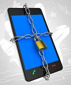 Smartphone Locked Means Security Secured And Protect