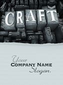 The word craft in print letter cases