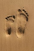 Footprints of two