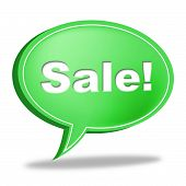 Sale Message Represents Correspond Merchandise And Discounts