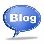 Blog Message Means World Wide Web And Blogging