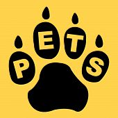 Pets Paw Shows Domestic Animal And Creature