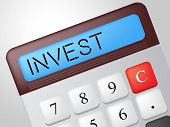 Invest Calculator Represents Return On Investment And Calculate