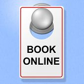 Book Online Sign Represents Single Room And Accommodation