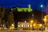 View Of Castle And Congress Square In Ljubljana, Slovenia