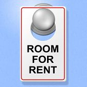 Room For Rent Means Place To Stay And Book