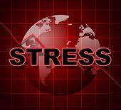 Stress Graph Represents Profit Pressure And Stressing