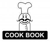 Cook Book Chef Represents Cooking In Kitchen And Chefs