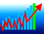 Graph Increasing Means Statistics Infochart And Investment