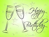 Happy Birthday Glasses Indicates Celebrating Celebration And Party