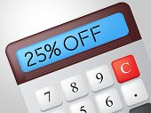 Twenty Five Percent Represents Offer Promo And Calculation