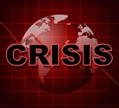 Crisis Graph Represents Investment Finance And Problems