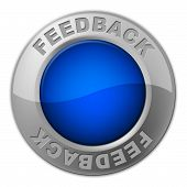 Feedback Button Means Comment Surveying And Evaluate