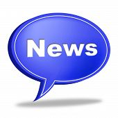 News Message Indicates Communication Messages And Communicate