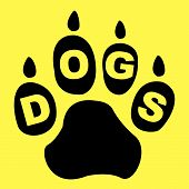 Dogs Paw Means Doggie Pedigree And Puppy