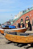 Brighton Fishing Museum Boats On Brighton Beach.