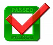 Passed Tick Indicates Passing Check And Ratified